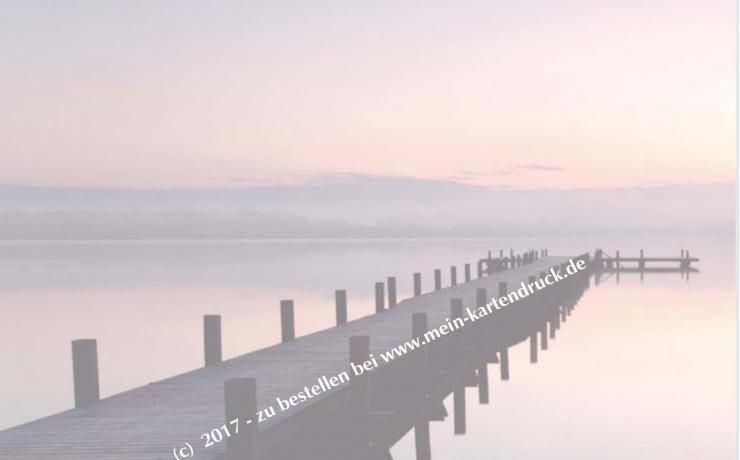 Trauer Danksagung Steg Wasser - Innenseite links