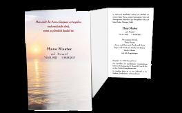 Trauerkarte Sonnenuntergang - Einladung Beerdigung