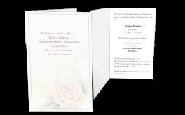 Traueranzeige Rose Klappkarte Einladung