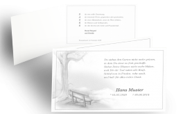 einladung zur trauerfeier - trauerbrief - über todesfall informieren, Einladung