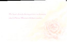 Trauerkarte Danksagung Rose pastell Klappkarte Vorne