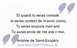FR Et quand tu seras consolé. A. de Saint-Exupéry
