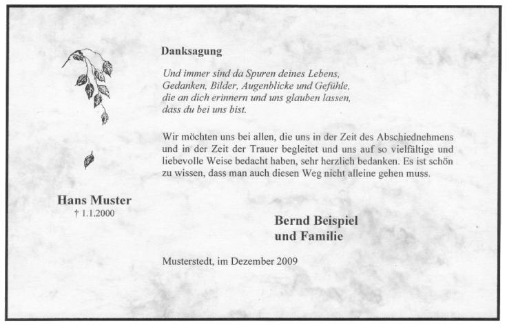 Trauersymbole für Danksagungskarten und Trauerkarten